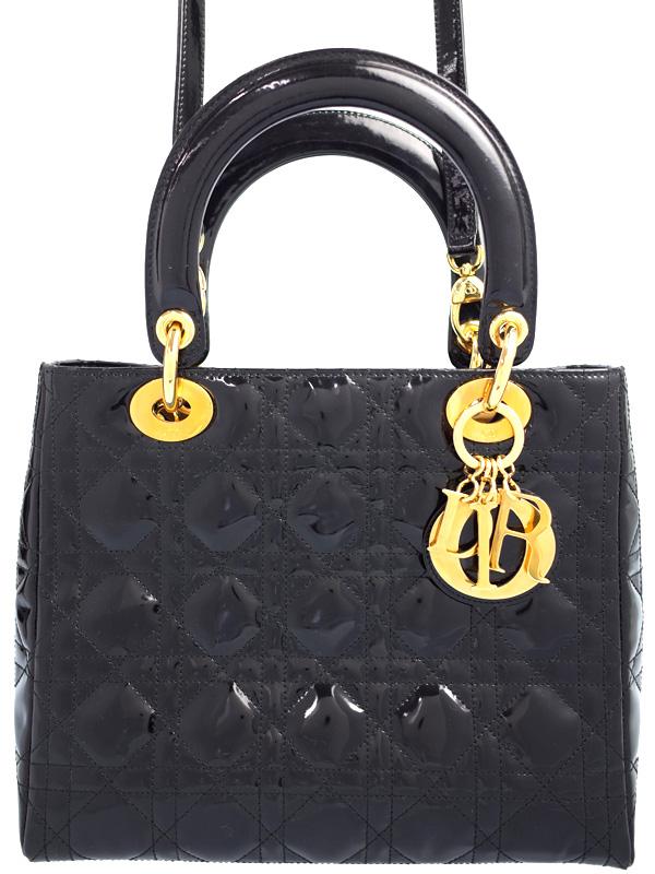 【Christian Dior】クリスチャンディオール『レディディオール(M)』レディース 2WAYバッグ 1週間保証【中古】b06b/h17AB