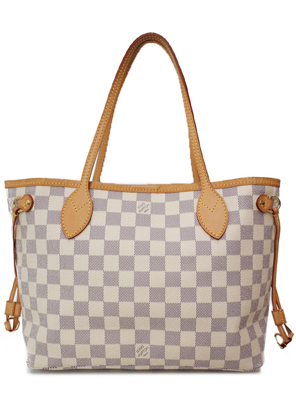 【LOUISVUITTON】【mede in U.S.A】ルイヴィトン『ダミエ アズール ネヴァーフルPM』N51110 レディース トートバッグ 1週間保証【中古】b03b/h07AB