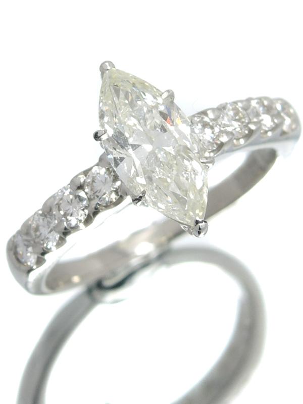 【仕上済】【鑑定書】セレクトジュエリー『PT900リング ダイヤモンド1.138ct/L/SI-2 0.44ct』13号 1週間保証【中古】b01j/h22SA