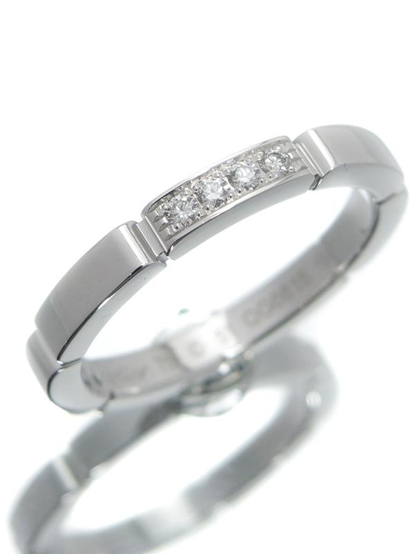 【Cartier】【MAILLON PANTHERE】【仕上済】カルティエ『マイヨンパンテール ウェディング リング 4Pダイヤモンド』11号 1週間保証【中古】b01j/h08SA