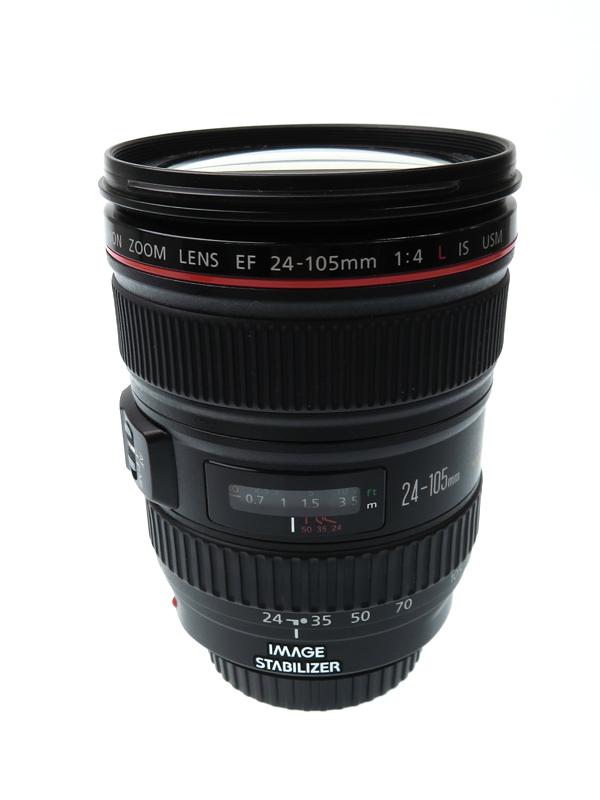 【Canon】【フルサイズ対応】キヤノン『EF24-105mm F4L IS USM』EF24-10540LIS 非球面 標準ズーム 一眼レフカメラ用レンズ 1週間保証【中古】b06e/h17AB