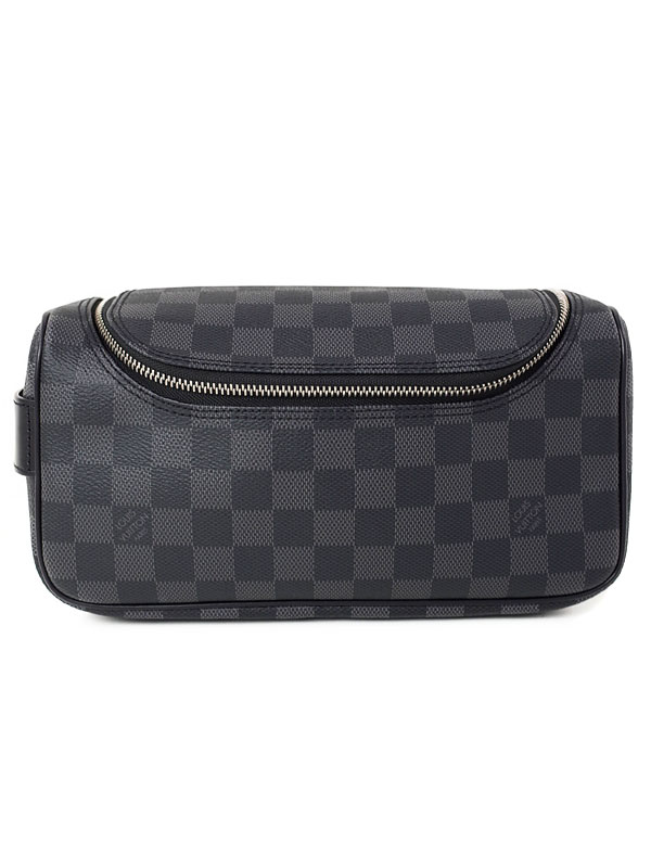 【LOUIS VUITTON】ルイヴィトン『ダミエ グラフィット トワレ ポーチ』N47625 メンズ 旅行用ポーチ 1週間保証【中古】b03b/h15SA