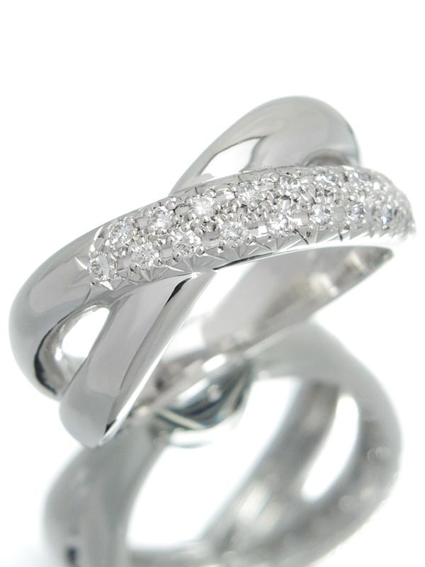 【TASAKI】【クロスデザイン】タサキ『PT900リング ダイヤモンド0.20ct』10号 1週間保証【中古】b01j/h02A