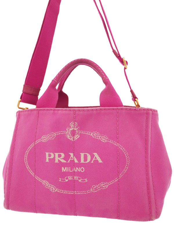 【PRADA】プラダ『カナパ 2WAYハンドバッグ』レディース 2WAYバッグ 1週間保証【中古】b01b/h02BC