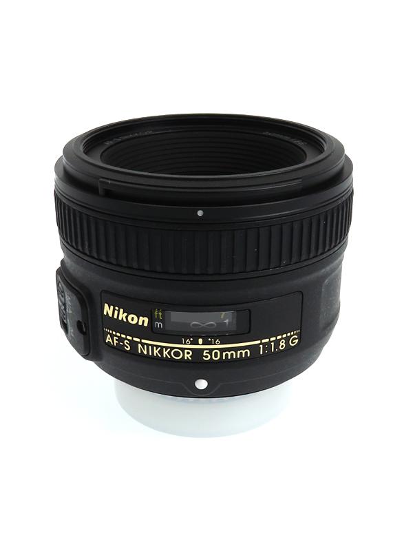 【Nikon】ニコン『AF-S NIKKOR 50mm f/1.8G』FXフォーマット 標準 一眼レフカメラ用レンズ 1週間保証【中古】b06e/h17AB