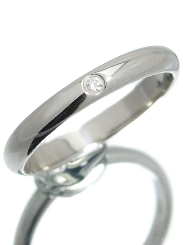 【Cartier】【1895】カルティエ『クラシック ウェディング リング 1Pダイヤモンド』7号 1週間保証【中古】b01j/h04A
