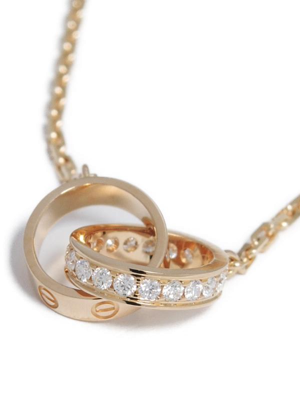 【Cartier】カルティエ『ベビーラブ ネックレス ダイヤ』1週間保証【中古】b01j/h04A