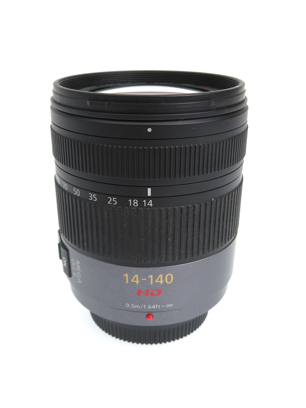 【Panasonic】パナソニック『LUMIX G VARIO HD 14-140mm/F4.0-5.8 ASPH./MEGA O.I.S.』H-VS014140 レンズ 1週間保証【中古】b05e/h10AB