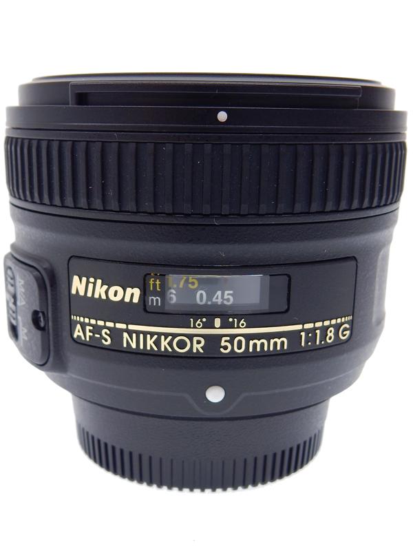 【Nikon】ニコン『AF-S NIKKOR 50mm f/1.8G』2011年発売 ニコンFマウント フルサイズ対応 静粛なAF撮影ができるSWM 搭載の大口径単焦点レンズ 1週間保証【中古】b05e/h12AB