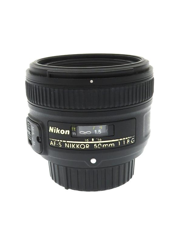 【Nikon】ニコン『AF-S NIKKOR 50mm f/1.8G』FXフォーマット 標準 一眼レフカメラ用レンズ 1週間保証【中古】b02e/h22B