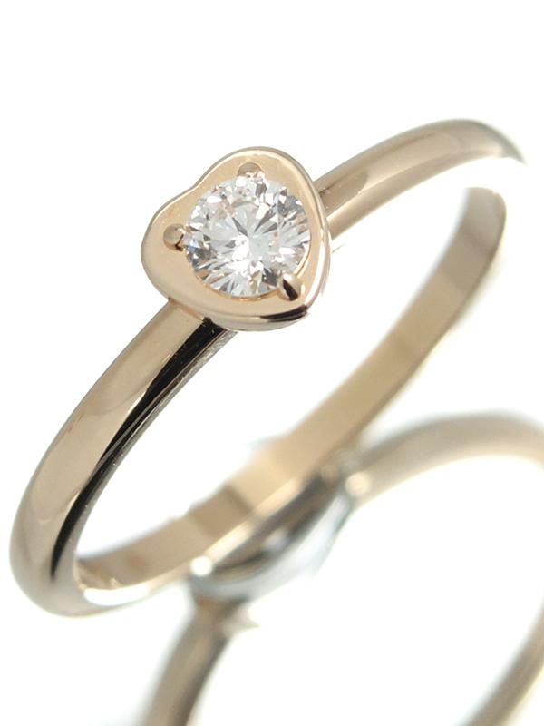 【Cartier】カルティエ『ディアマン レジェ リング ハート 1Pダイヤモンド』11.5号 1週間保証【中古】b02j/h03A