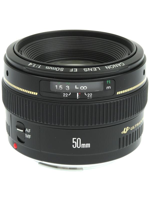 【Canon】キヤノン『EF50mm F1.4 USM』EF5014U 標準 単焦点 フルタイムマニュアル 一眼レフカメラ用レンズ 1週間保証【中古】b02e/h03AB
