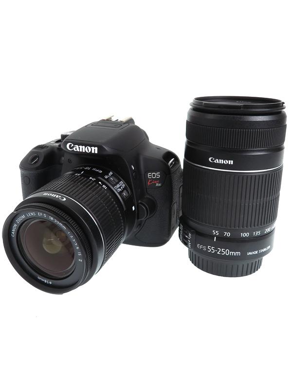 【Canon】キヤノン『EOS Kiss X6iダブルズームキット』1800万画素 キヤノンEFマウント HDR逆光補正モード デジタル一眼レフカメラ 1週間保証【中古】b03e/h10AB