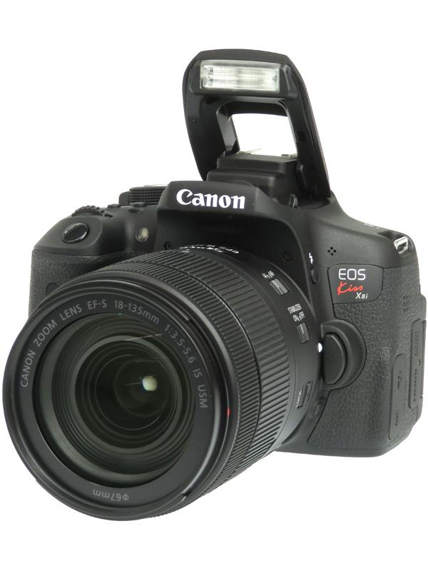 【Canon】キヤノン『EOS Kiss X8i EF-S18-135 IS USM レンズキット』2420万画素 SDXC デジタル一眼レフカメラ 1週間保証【中古】b06e/h17AB