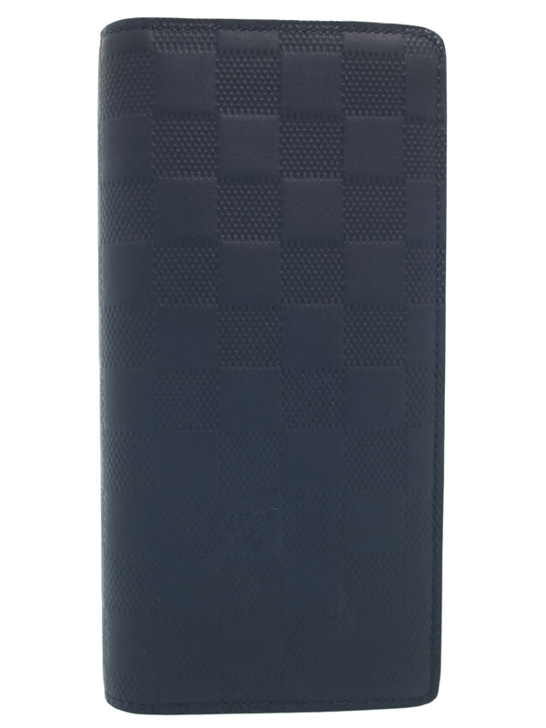【LOUIS VUITTON】ルイヴィトン『ダミエ アンフィニ ポルトフォイユ ブラザ』N63318 メンズ 二つ折り長財布 1週間保証【中古】b02b/h08S