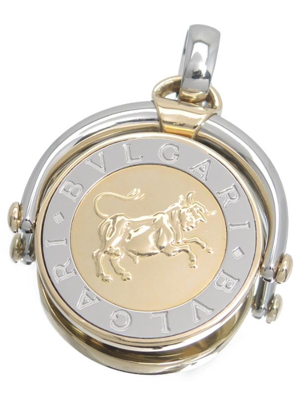 【BVLGARI】【Taurus】【牡牛】ブルガリ『ホロスコープ ペンダントトップ おうし座』1週間保証【中古】b03j/h16A