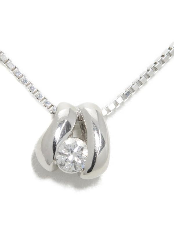 【POLA】ポーラ『PT900ネックレス 1Pダイヤモンド0.20ct』1週間保証【中古】b01j/h22A