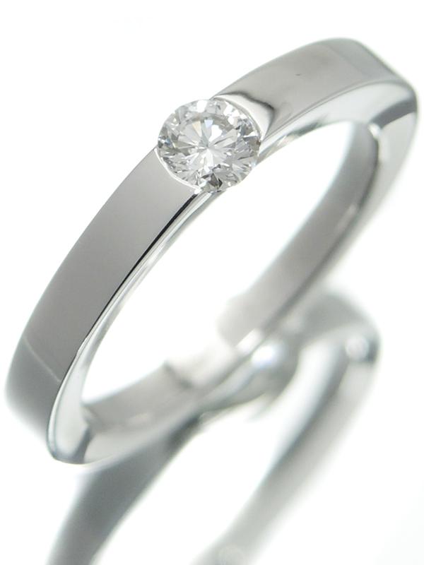 【Cartier】【仕上済】【鑑定書】カルティエ『デートウィズ リング 1Pダイヤモンド0.21ct/E/VS-1』12号 1週間保証【中古】b01j/h02SA
