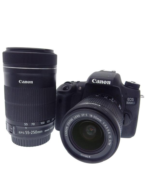 【Canon】キヤノン『EOS 8000D ダブルズームキット』EOS8000D-WKIT2420万画素 APS-C 2420万画素 5コマ/秒 Wi-Fi デジタル一眼レフカメラ 1週間保証【中古】b03e/h20AB