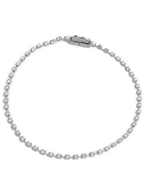 セレクトジュエリー『PT850ブレスレット ダイヤモンド1.00ct テニスブレス』1週間保証【中古】b05j/h10A