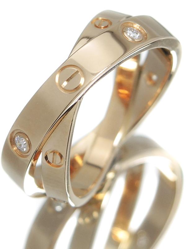 【Cartier】【仕上済】カルティエ『ビーラブ リング 6Pダイヤモンド』11号 1週間保証【中古】b01j/h04SA