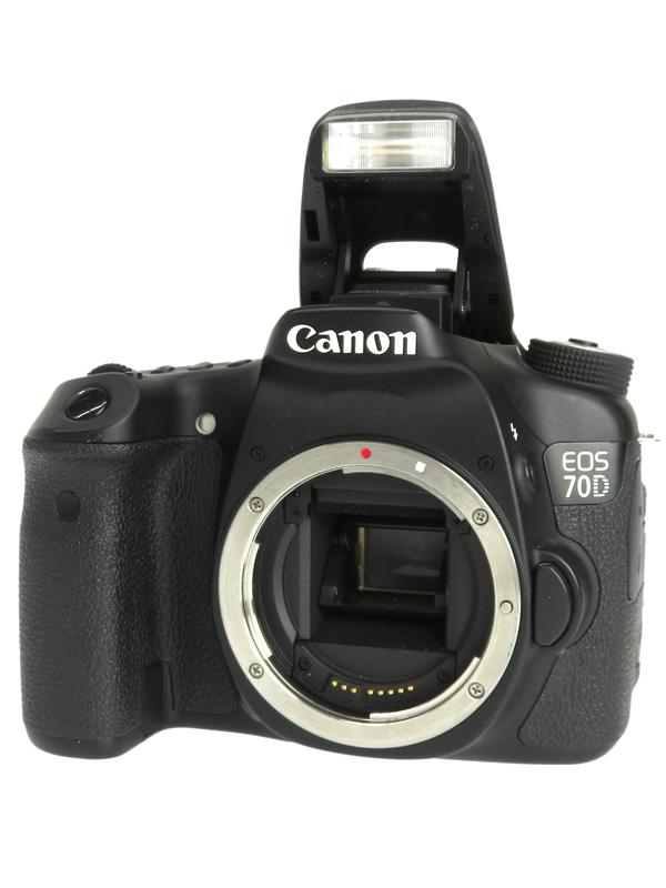 【Canon】キヤノン『EOS 70Dボディー』EOS70D APS-C 2020万画素 バリアングル Wi-Fi フルHD動画 デジタル一眼レフカメラ 1週間保証【中古】b03e/h06B