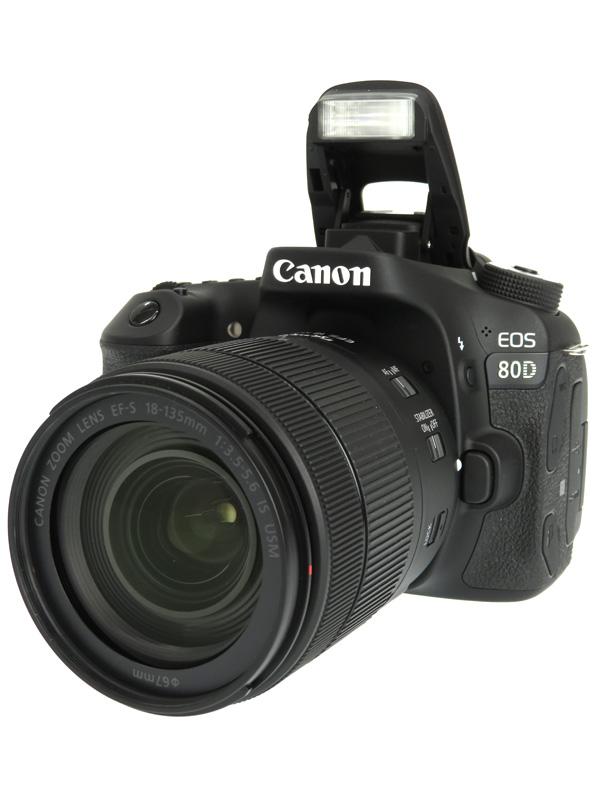 【Canon】キヤノン『EOS 80D EF-S18-135 IS USMレンズキット』2420万画素 SDXC デジタル一眼レフカメラ 1週間保証【中古】b03e/h08AB