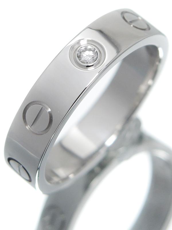 【Cartier】カルティエ『ミニラブリング 1Pダイヤモンド』7号 1週間保証【中古】b02j/h09A