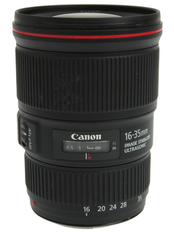 【Canon】キヤノン『EF16-35mm F4L IS USM』EF16-3540LIS 非球面 超広角ズーム 一眼レフカメラ用レンズ 1週間保証【中古】b02e/h13B