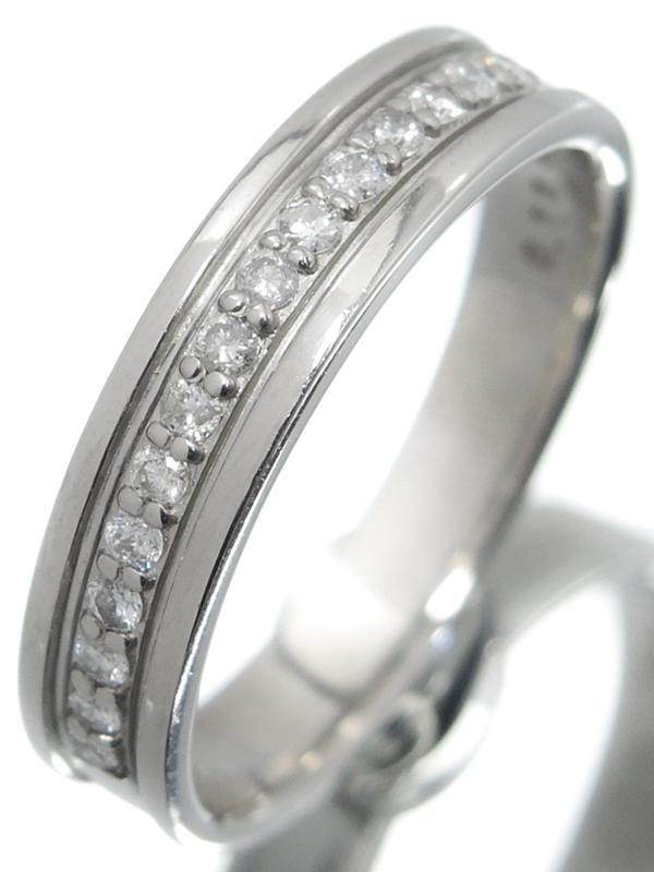 【COURREGES】【仕上済】クレージュ『PT950リング ダイヤモンド0.15ct』7.5号 1週間保証【中古】b06j/h17SA