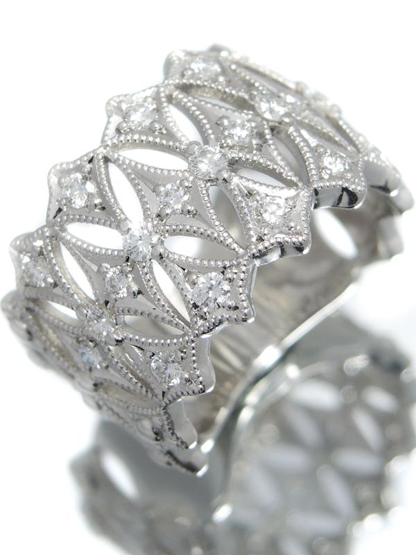 セレクトジュエリー『PT950リング ダイヤモンド0.61ct』16号 1週間保証【中古】b05j/h10A