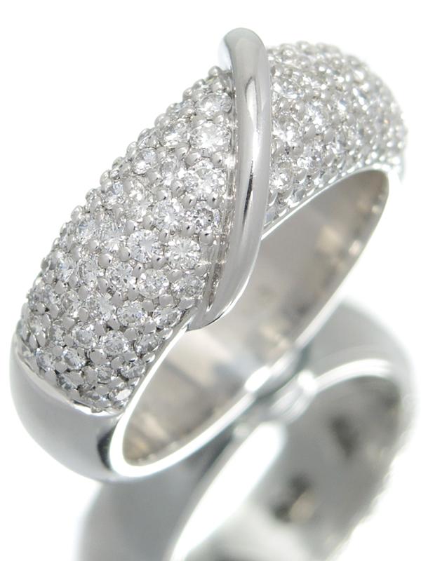 【パヴェダイヤ】セレクトジュエリー『K18WGリング ダイヤモンド1.02ct』12.5号 1週間保証【中古】b05j/h10A