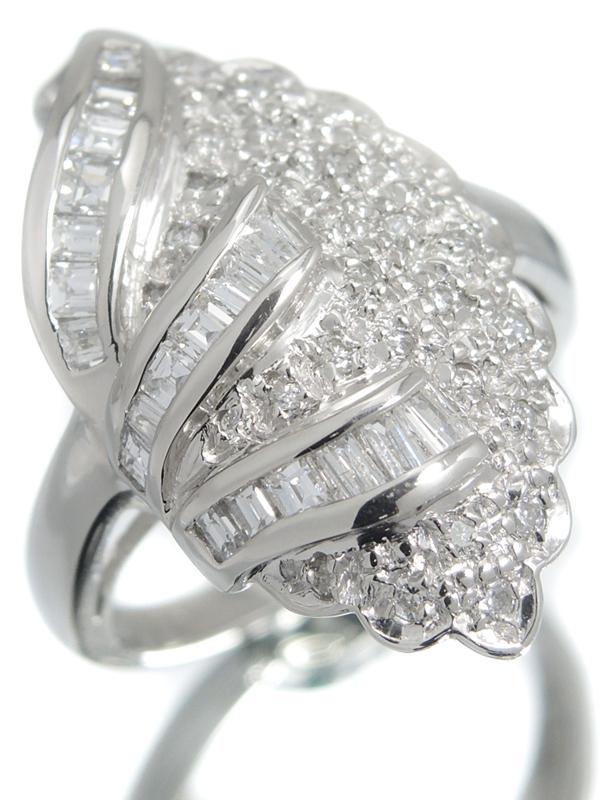 【仕上済】セレクトジュエリー『PT900リング ダイヤモンド0.96ct』12.5号 1週間保証【中古】b05j/h12SA