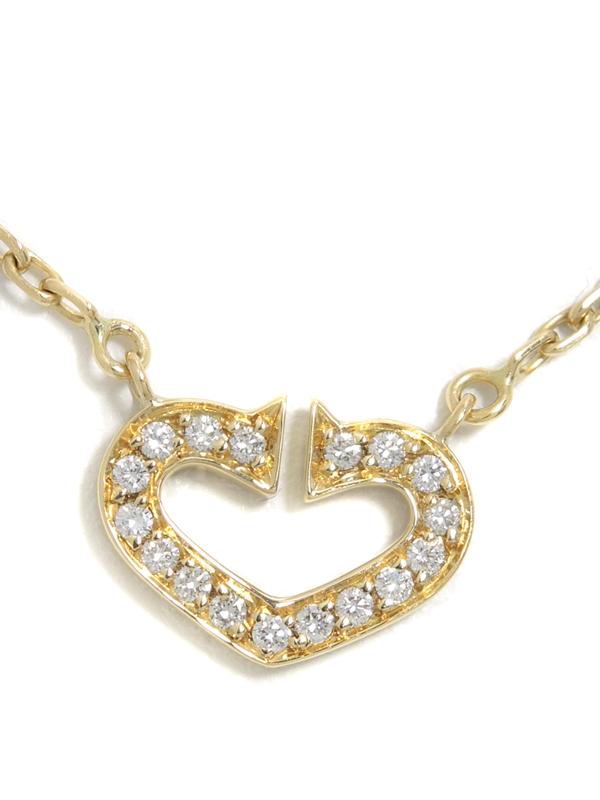 【Cartier】カルティエ『Cハート オブ カルティエ ダイヤモンド ネックレス』1週間保証【中古】b03j/h16A