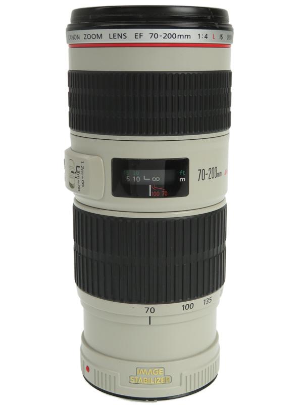 【Canon】キヤノン『EF70-200mm F4L IS USM』EF70-20040LIS 望遠ズーム 手ブレ補正 一眼レフカメラ用レンズ 1週間保証【中古】b03e/h08B