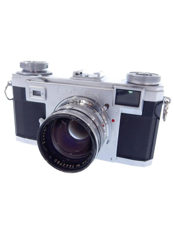 【CONTAX】コンタックス『Contax IIa + Carl ZEISS Sonnar 1:1.5 f=50mm』フィルム一眼レフカメラ 1週間保証【中古】b03e/h16B