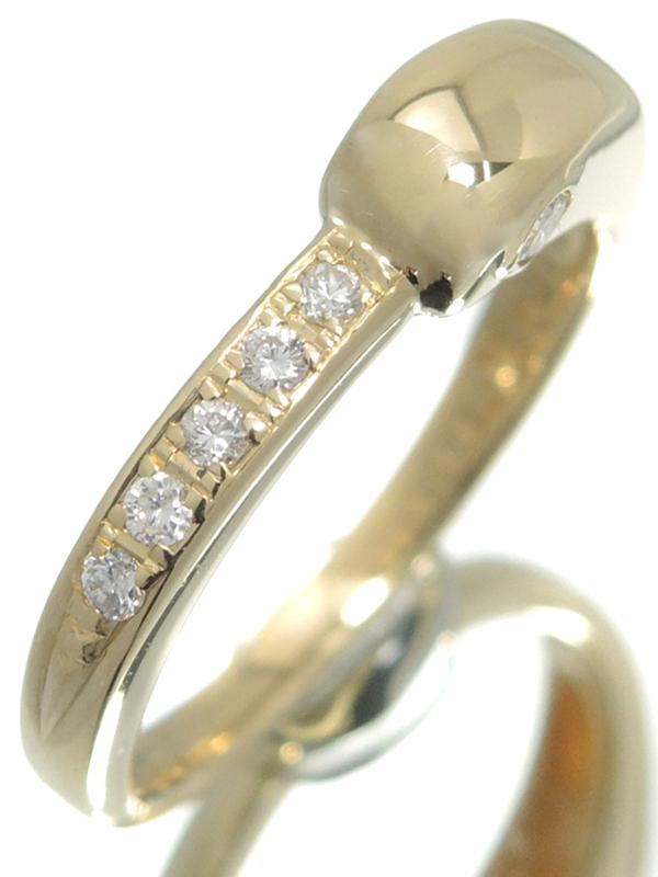 【CELINE】【仕上済】セリーヌ『K18YGリング ダイヤモンド0.17ct』12号 1週間保証【中古】b06j/h17SA