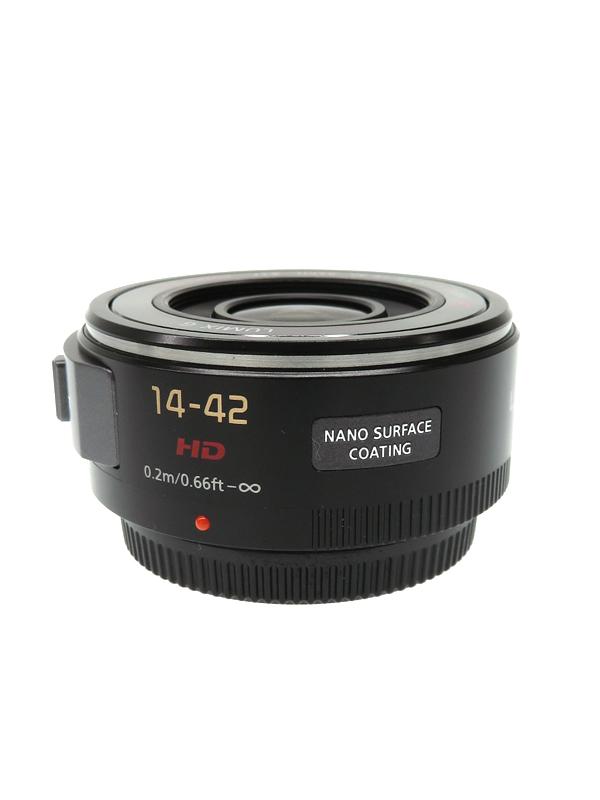 【Panasonic】パナソニック『LUMIX G X VARIO PZ 14-42mm F3.5-5.6 ASPH. POWER O.I.S ブラック』H-PS14042-K Xレンズ レンズ 1週間保証【中古】b03e/h07AB