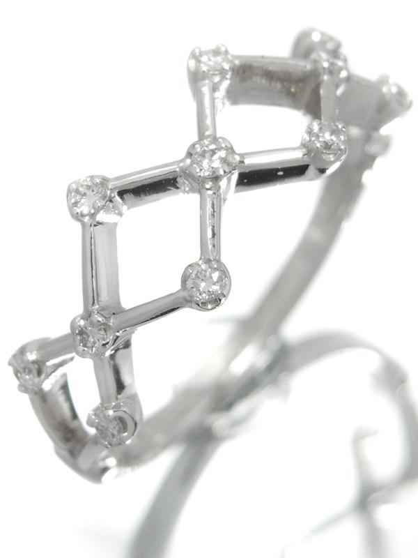 【Vendome Aoyama】ヴァンドーム青山『PT900リング ダイヤモンド0.11ct』11号 1週間保証【中古】b05j/h12A