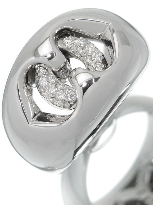 【BVLGARI】ブルガリ『アブラッチオ リング ダイヤモンド』14号 1週間保証【中古】b03j/h20A