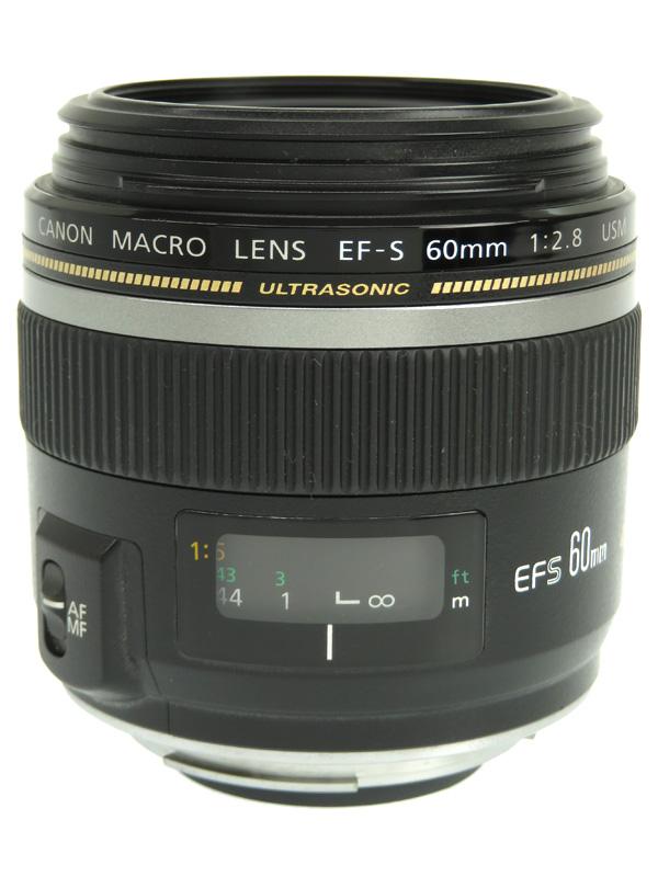 【Canon】キヤノン『EF-S60mm F2.8マクロUSM』EF-S6028MU 96mm相当 等倍 デジタル一眼レフカメラ用レンズ 1週間保証【中古】b02e/h22B