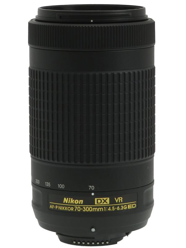 【Nikon】ニコン『AF-P DX NIKKOR 70-300mm f/4.5-6.3G ED VR』105mm-450mm相当 デジタル一眼レフカメラ用レンズ 1週間保証【中古】b03e/h20AB