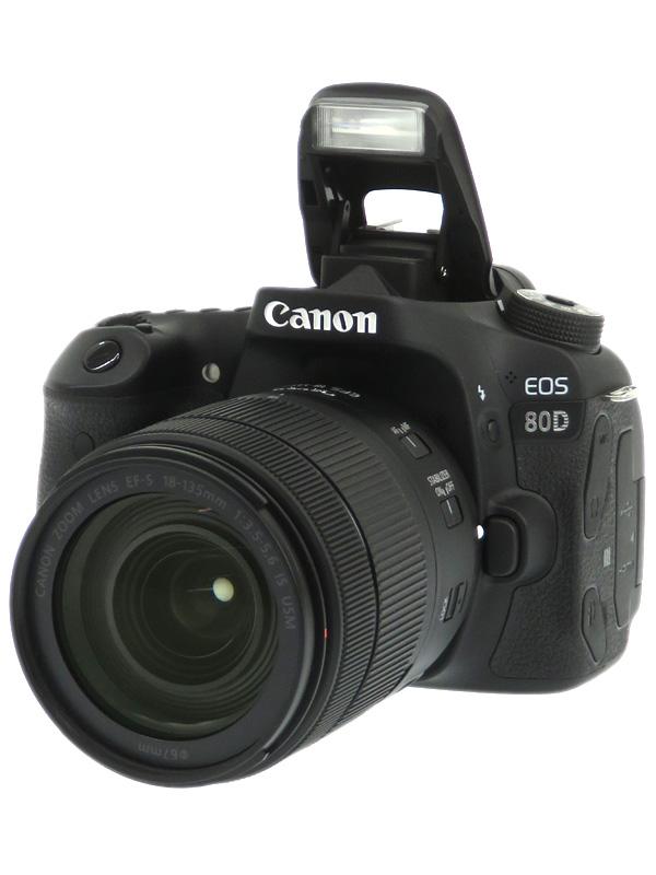 【Canon】キヤノン『EOS 80D EF-S18-135 IS USMレンズキット』2420万画素 SDXC デジタル一眼レフカメラ 1週間保証【中古】b02e/h19AB