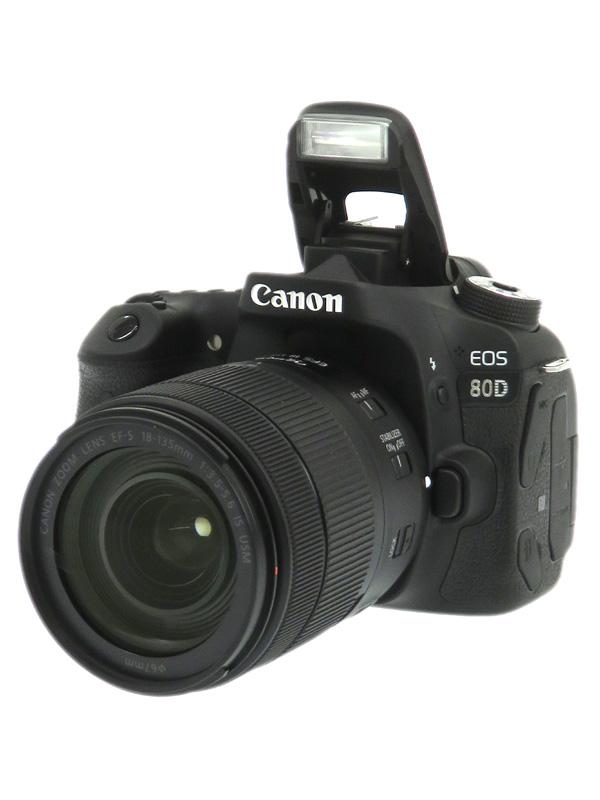 【Canon】キヤノン『EOS 80D EF-S18-135 IS USMレンズキット』2420万画素 SDXC デジタル一眼レフカメラ 1週間保証【中古】b02e/h21AB