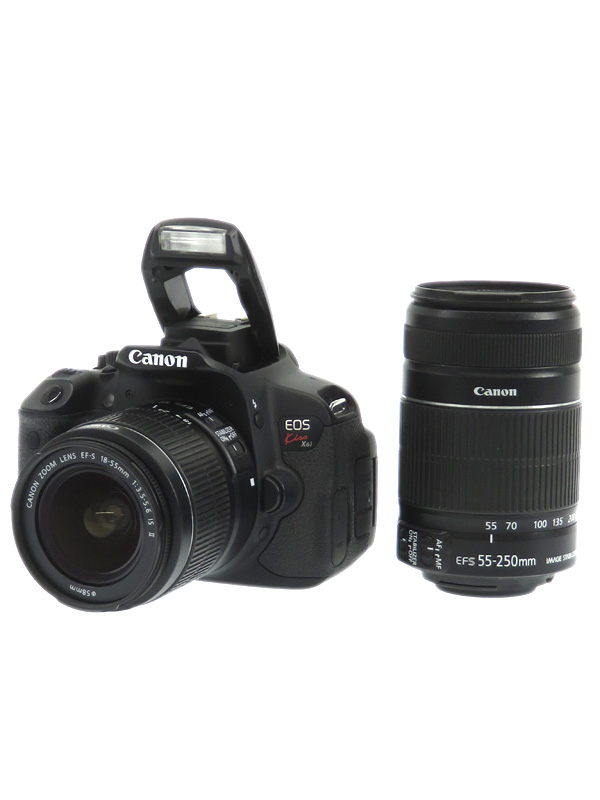 【Canon】キヤノン『EOS Kiss X6iダブルズームキット』1800万画素 デジタル一眼レフカメラ 1週間保証【中古】b02e/h04B