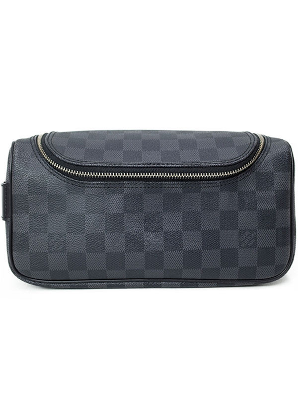 【LOUIS VUITTON】ルイヴィトン『ダミエ グラフィット トワレ ポーチ』N47625 メンズ 旅行用ポーチ 1週間保証【中古】b06b/h17A