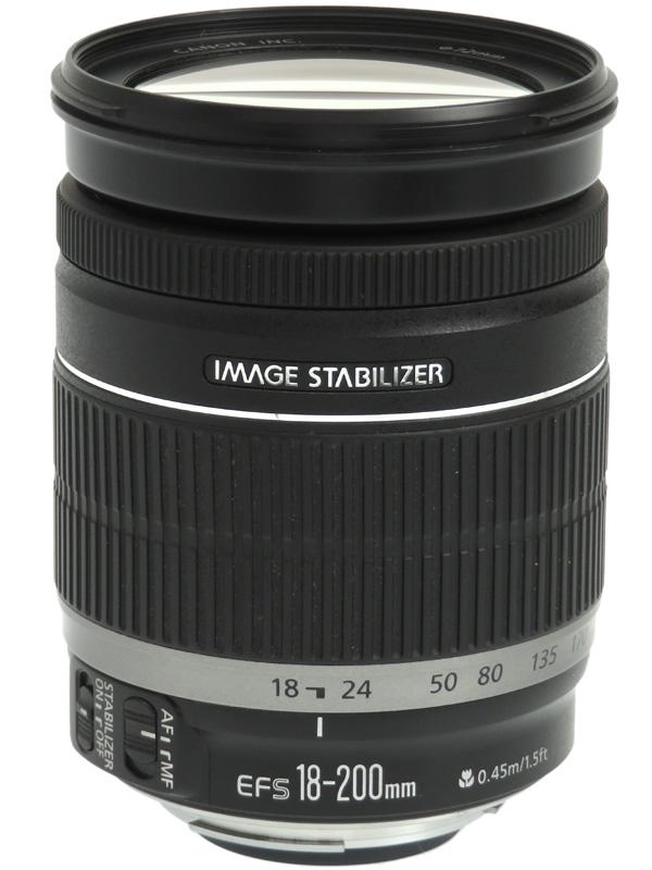 【Canon】キヤノン『EF-S18-200mm F3.5-5.6 IS』EF-S18-200IS 29-320mm相当 デジタル一眼レフカメラ用レンズ 1週間保証【中古】b03e/h07B