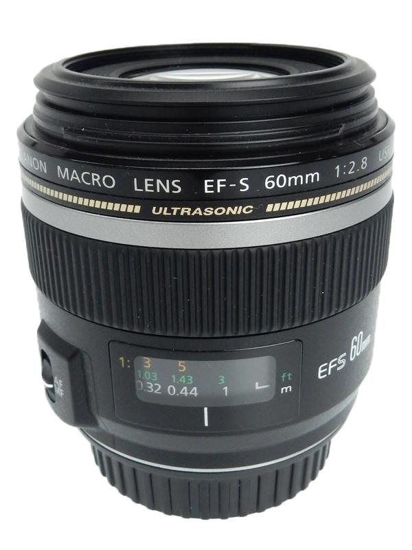 【Canon】キヤノン『EF-S60mm F2.8マクロUSM』EF-S6028MU 96mm相当 等倍 デジタル一眼レフカメラ用レンズ 1週間保証【中古】b03e/h08AB