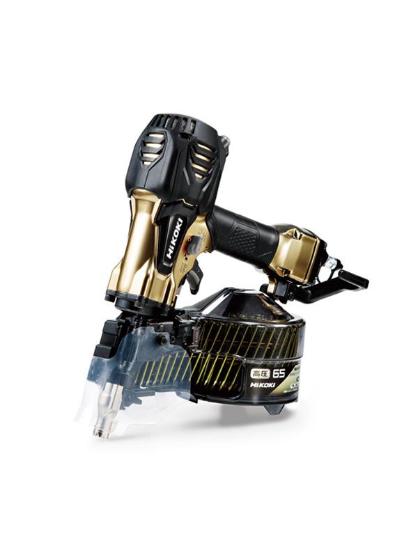 【HiKOKI】日立工機『高圧ロール釘打機』NV65HR2(S) ハイゴールド 65mm パワー切り替え付 1週間保証【新品】b00t/b00N