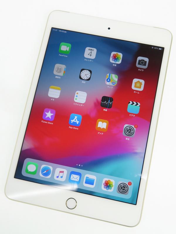 【Apple】【docomoのみ】アップル『iPad mini 4 Wi-Fi + Cellular 16GB docomo』MK712J/A iOS12.1.1 タブレット 1週間保証【中古】b05e/h12AB